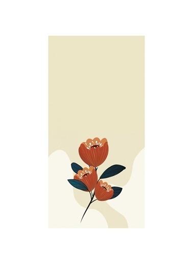 Artikel Kahverengi Lale Desenli Dekoratif Çift Taraflı Yastık Kırlent Kılıfı 45x45 cm Renkli